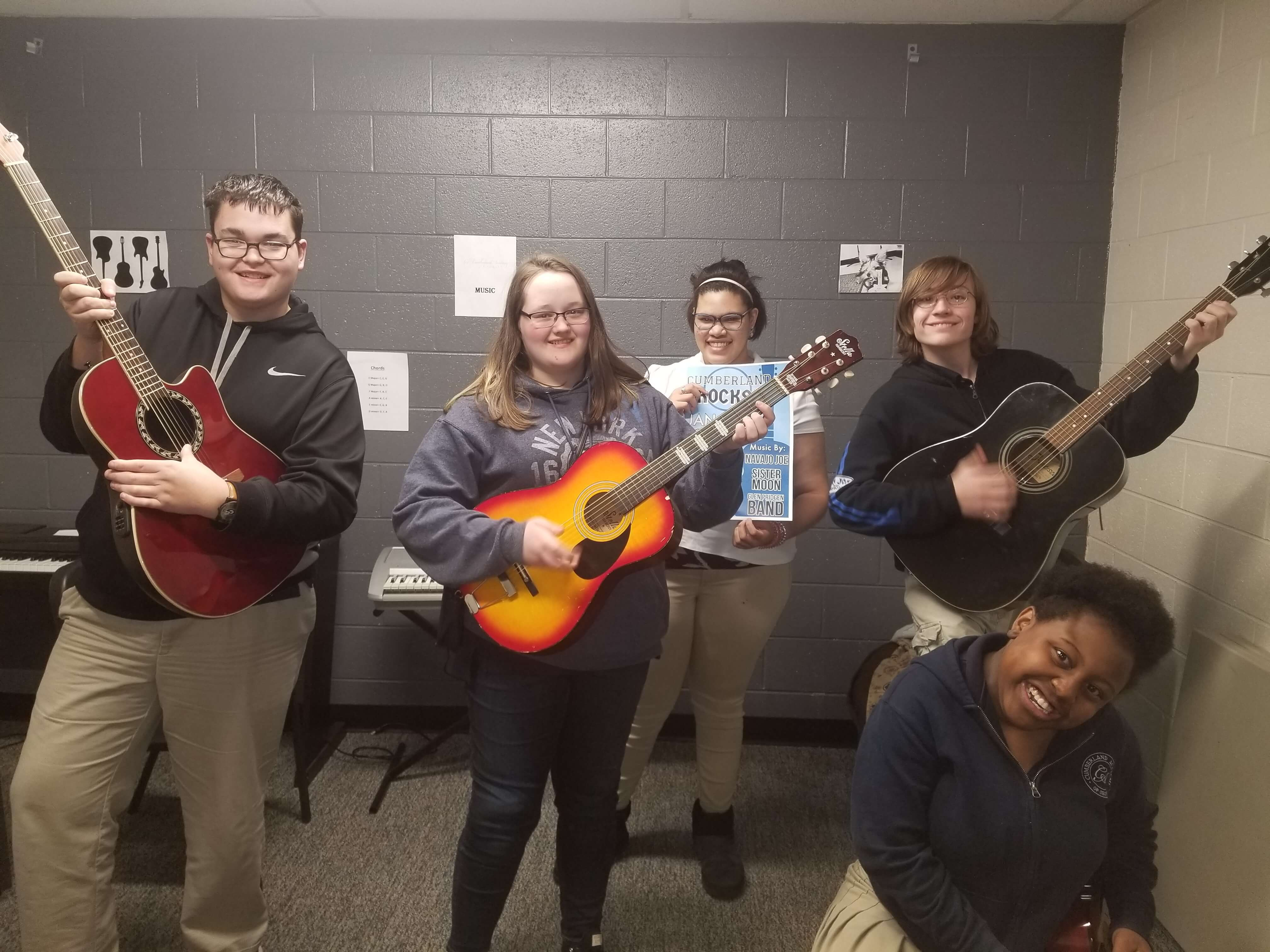 Students Showing Excitement for Hard Rock Cafe Fundraiser