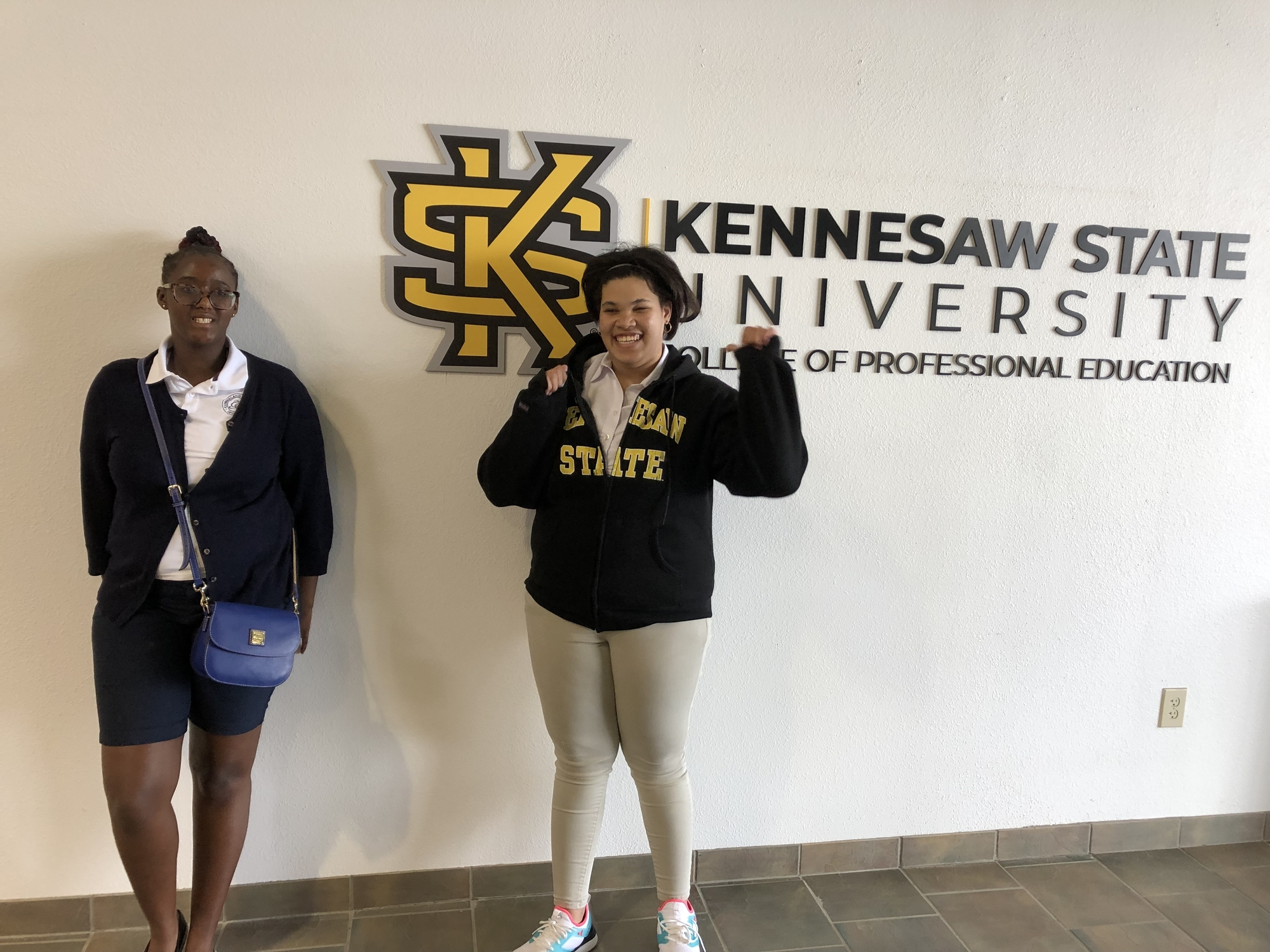 Two Cumberland Academy of Georgia students participate in dual enrollement program at KSU